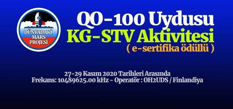 QO-100 Uydusu KG-STV Etkinliği Duyurusu