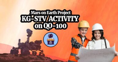 Mars on Earth Project KG-STV Activity on QO-100