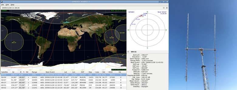 Resim-1. Amatör uydu izleme.